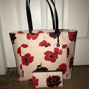 Kate Spade Hyde Lane Poppy Purse and wallet set